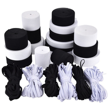 10Meter 15/20/25/30/35/40/50/60MM Flat Knitted Elastic Craft Sewing Cord Band Garment Stretch Accessories