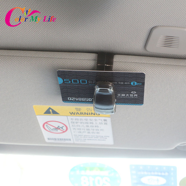 1 Piece ABS Car Glasses Holder Vehicle Visor Bank Card Ticket Holder Clip for KIA Rio Sorento Sportage Ceed K2 K3 K4 K5 K7 K9