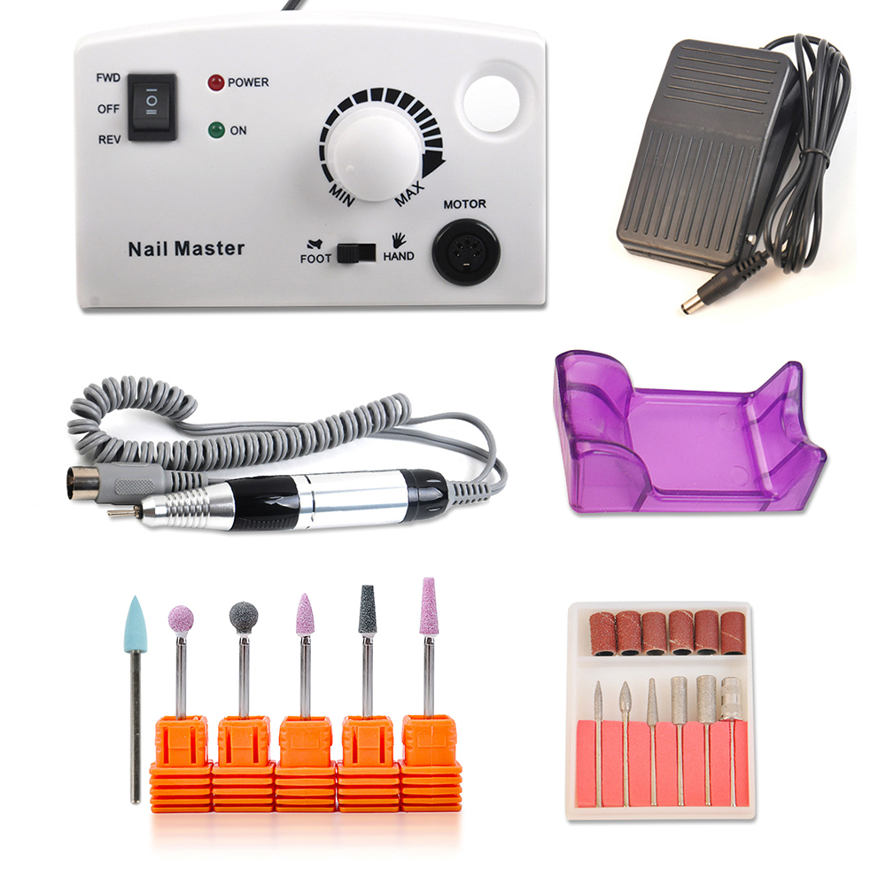 Nail Polishing Electric Machine Set 25000RPM Pedicure Nail Drill Apparatus For Manicure File Kits Nail Art Cutter Milling Kit pro powerful 25000rpm electric nail drill pedicure manicure machine set with pedal