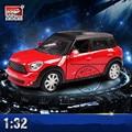 1:32 MINI Coopers Сплава Литой Масштабная Модель Автомобиля Игрушки Миниатюрный Тянуть назад Автомобиль со Звуком и Светом Мальчиков Подарок с Простой Пакет