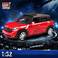 1:32 MINI Coopers Alloy Diecast Scale Model Car Toys Miniature Pull Back Car with Sound and Light Boys Gift with Simple Package