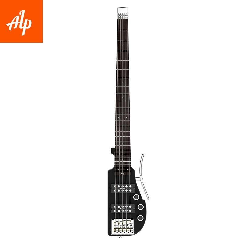 Guitare électrique portative de voyage sans tête d'alp ALP-RG5 basse de 5 cordes 101AX