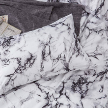 Marble Cloud Pattern Duvet Cover Set Luxury Microfiber Bed Set Down Comforter Quilt Pillow Case Sham Twin Queen King Full Size 150 200cm kids blue duvet cover without comforter send 2 pillow case wave striped pattern 2016 hot selling free shipping