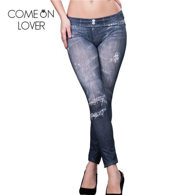 9b1dab5a7d10d TE2032 Comeonlover brand new fashion print sexy leggings women hot sale  faux jean denim leggins popular women fashion jeggings