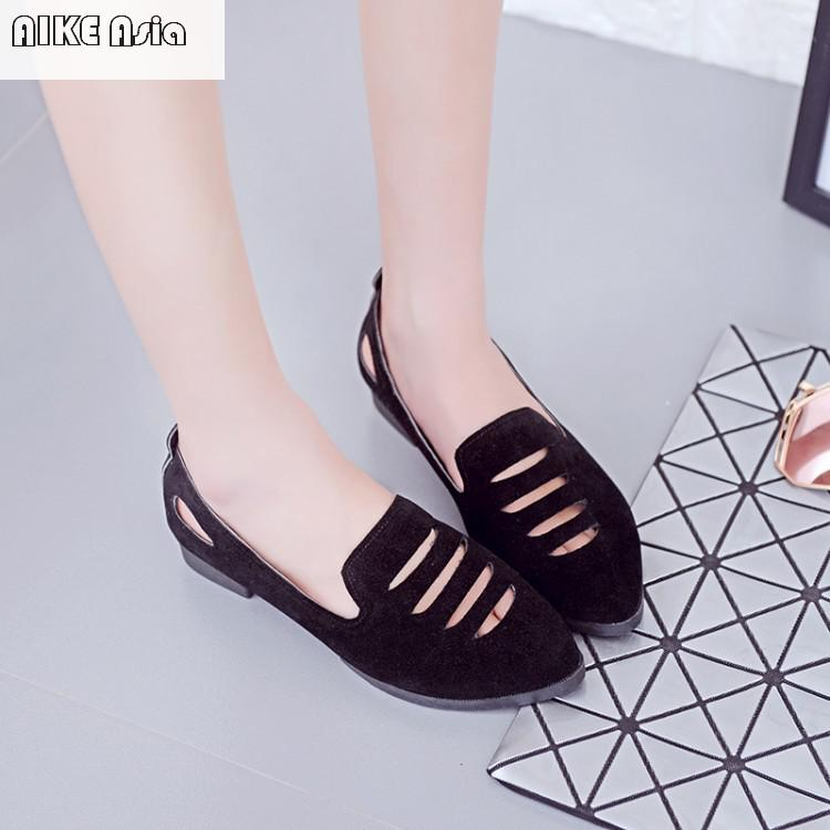 Casual Travail Creux Color Oxford New Asie photo Hot Dames Chaussures Aike 2018 Plat Photo Color Mode Pied Femmes wPzAqq