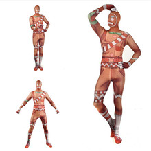 Free shipping adult Kids halloween Game Cosplay Costume Merry Marauder Fortress Night Zentai Bodysuit Jumpsuits Mask JQ-1327