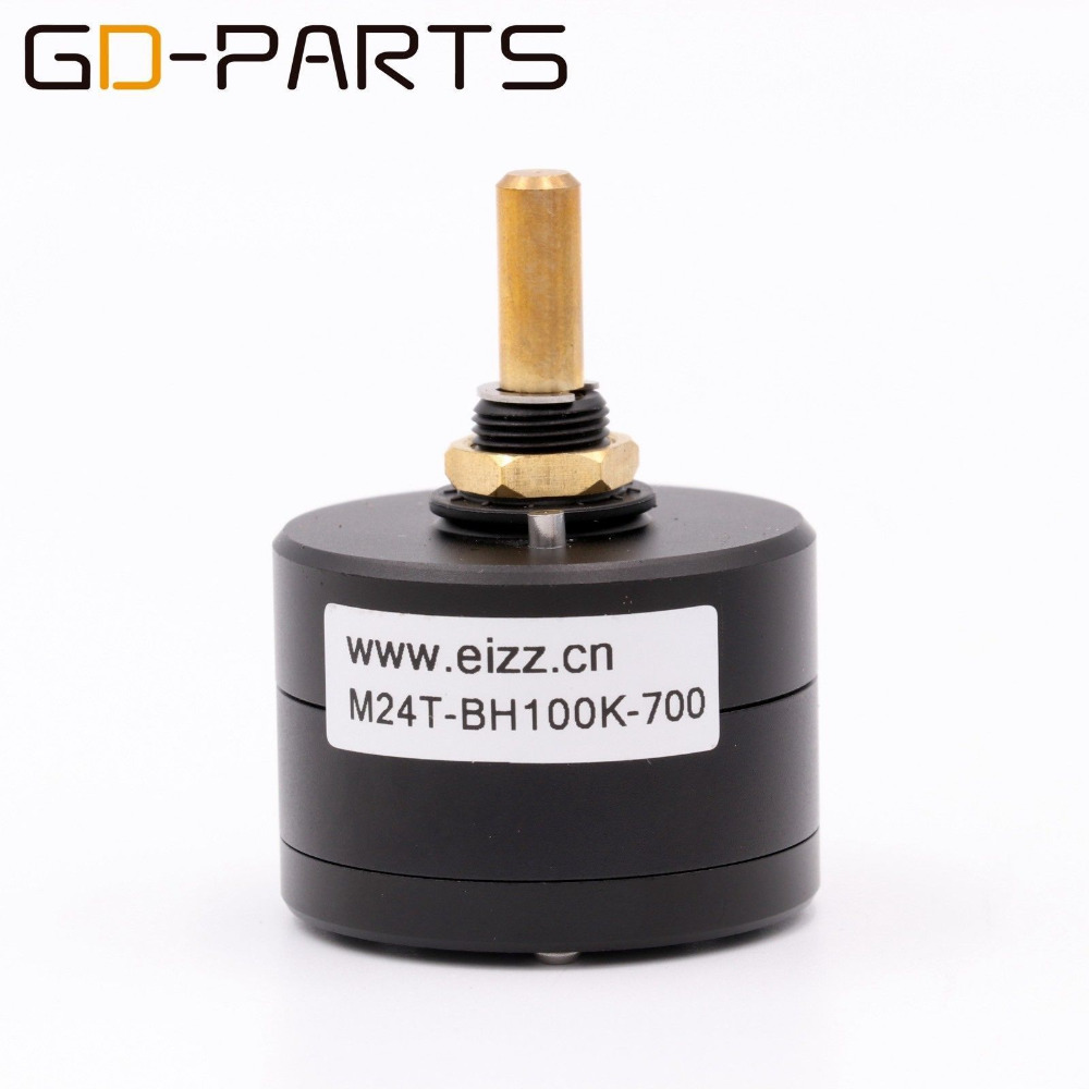 EIZZ High End Mono 100K 24 Steps Volume Potentiometer LOG Attenuator Sound Control For HIFI Audio Amplifier Upgrade DIY цены