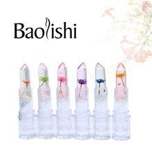 baolishi 3pcs flower essence magic change colour lipstick natural Plants fruit essence lip balm lip gloss beauty brand makeup beauty essence