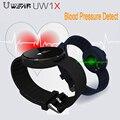 Nova Pulseira Inteligente UW1X Freqüência Cardíaca Freqüência Cardíaca Pulseira Inteligente pressão arterial monitor de banda de fitness rastreador inteligente pk xiaomi banda 2