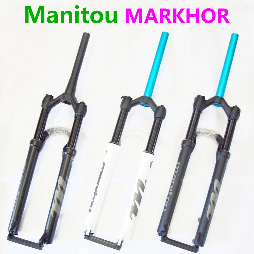 Bike Fork Manitou MARKHOR 26 27 5 29er Mountain MTB Bicycle Fork air Front Fork different