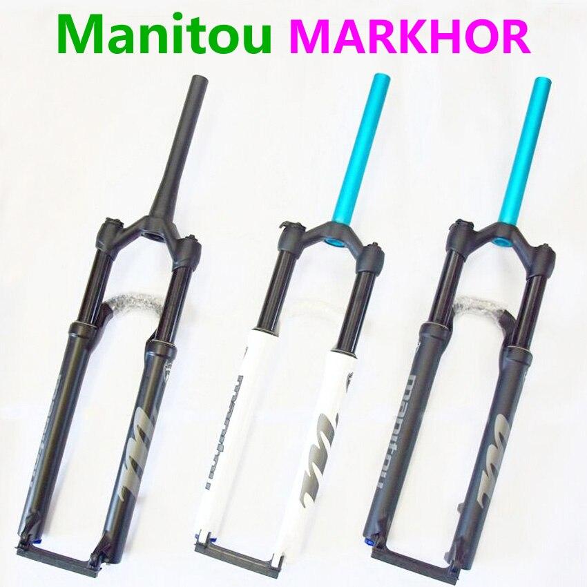 US $170 72 20% OFF Bike Fork Manitou MARKHOR 26 27 5 29er Mountain MTB  Bicycle Fork air Front Fork different to MRD Marvel Pro comp SR SUNTOUR  2019-in