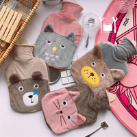 Cute Cartoon Animal Hot Water Bottle Winter Plush Rubber Warm Water Bag High Quality Hand Warm Bag JJ205