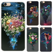 Constellation Painted Soft Shell Phone Cases For iPhone 5 5C 5S 6 6S 7 8 Plus Phone Cover For iPhone 8 Plus Half-wrapped case store painted plastic phone case for iphone 5 5s