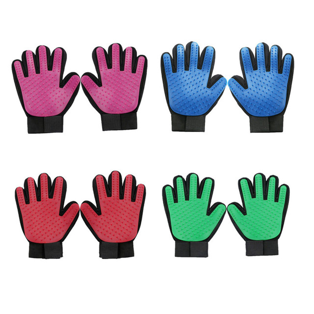 Gentle Deshedding Pet Grooming Brush Glove (4 Colors)