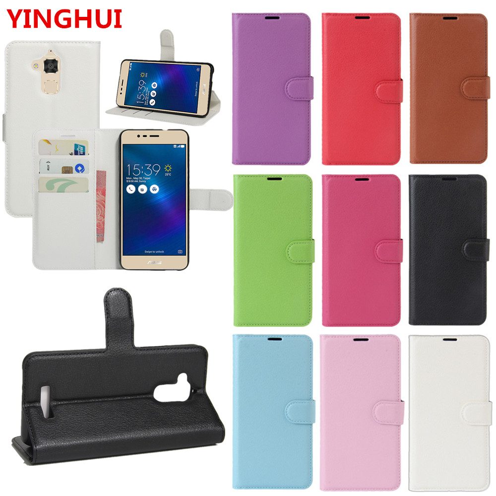 For Asus ZenFone 3 Max ZC520TL Case Flip Wallet Leather Cover For ZenFone 3 Max ZC520TL 5.2 inch With Stand Function Card Holde