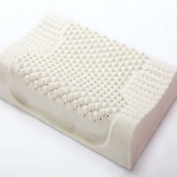 new High Quality Contour Massage Natural Latex Pillow for Adult With Velvet Outer Cervical Health Care Pillow 50*30*10