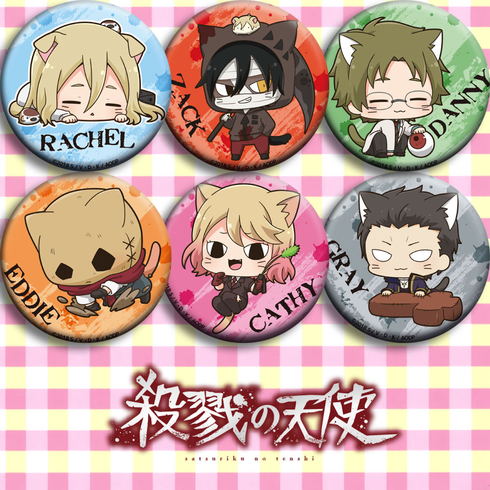 Japan Anime Angels of <font><b>Death</b></font> RACHELCosplay Badge Cartoon Collection Bags Badges For Backpacks Button Clothes Brooch Pins gifts image