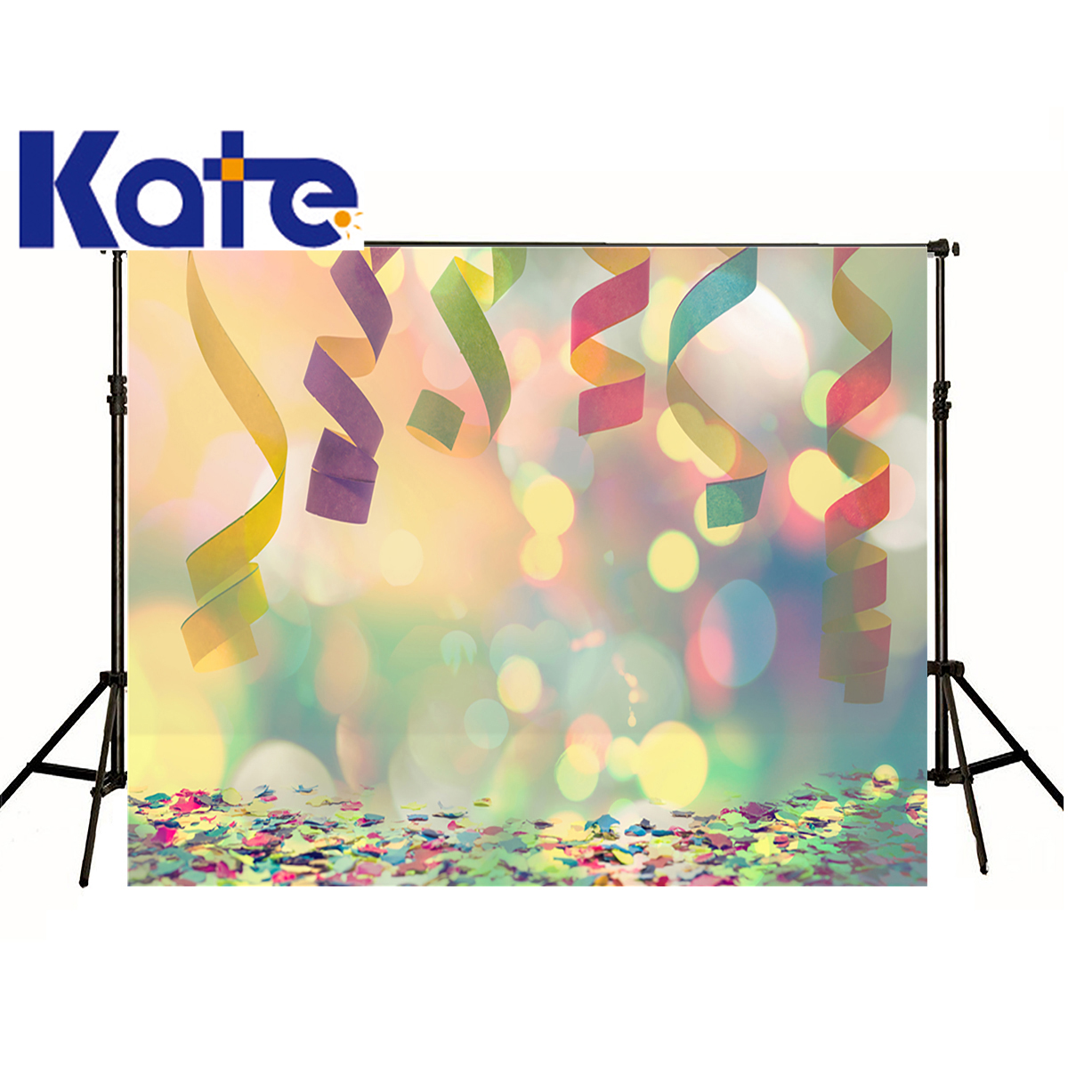 Kate Photographic Background Ribbons Colored Dots Glow Paper Flowers Washable Birthday Photocall Backdrops Princess Wedding сумка kate spade new york wkru2816 kate spade hanna