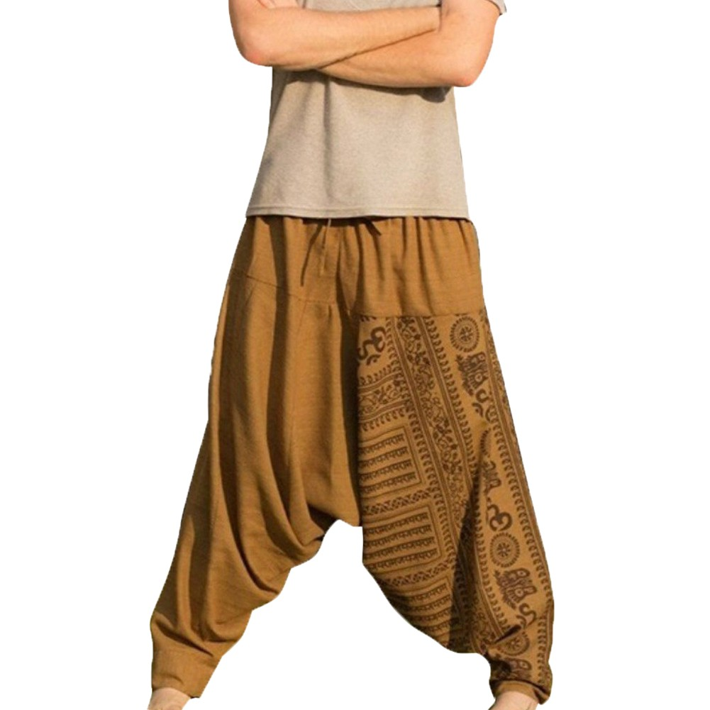 Oversize-Pants Baggy Mens Trousers Large-Size Casual Man Print Long Loose D90722 Nationality