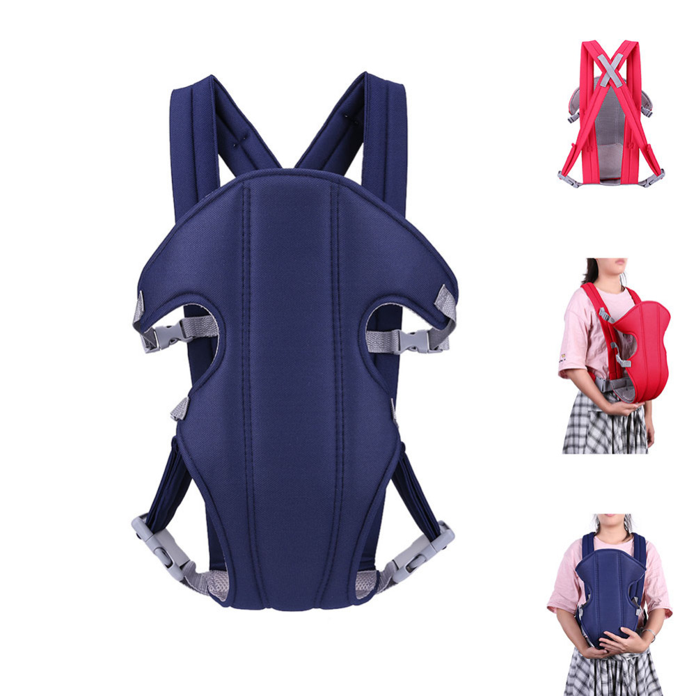 Adjustable Baby Sling Carrier Toddler Safety Four Position Lap Strap Soft Sling Carriers Backpack Wrap For 2-36 Months Baby