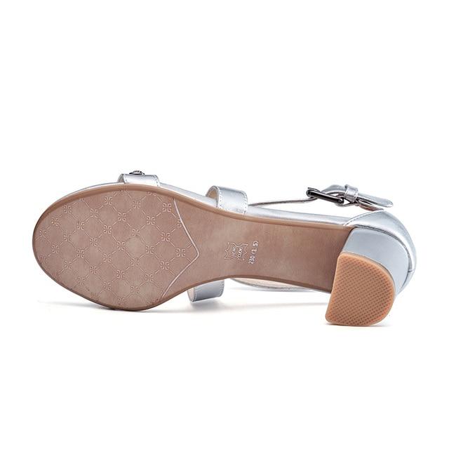 Universe Women Sandals Fashion Cross Strap Shoes Square Heel G129