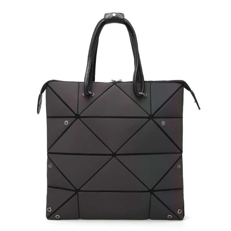 Yeni Moda çanta Kadın Kadınlar Için Çanta 2018 Aydınlık Geometrik Bayanlar Crossbody omuzdan askili çanta Deforme Tote Çanta