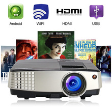 CAIWEI Android WIFI Proyector Portable LED Projector 1080P Multimedia Home Cinema for Home Use 1024x600 Resolution
