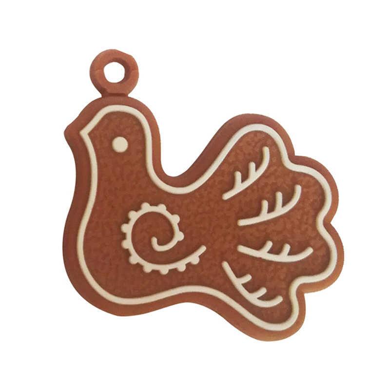 6/11 Pcs Gingerbread Man חג המולד קישוטי צבי שלג עץ חג המולד תליון קישוט חדש שנה תפאורה המפלגה