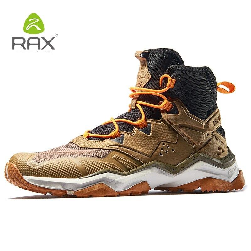Men Hiking Shoes High Top Waterproof Outdoor Sneaker Men Mountain Breathable Trekking Shoes Trail Climbing Sneakers