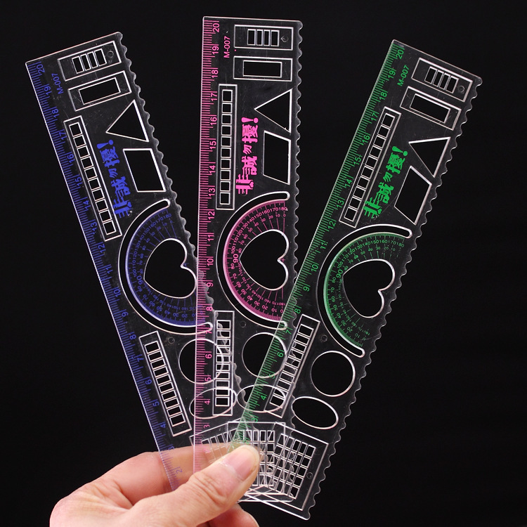 1 PCS 20cm Candy-colored Plastic Ruler Measuring Straight Creative Model Ruler Tool Promotional Gift Stationery Student Prize