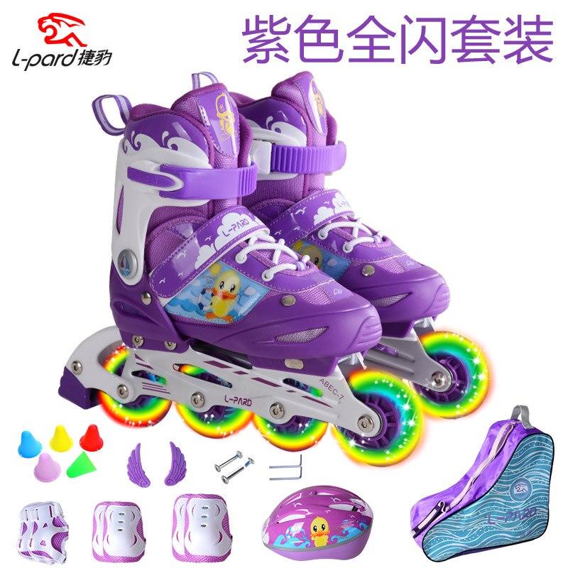 Prix pour Clignotant roues C18 tailles enfants skate chaussures plat type patins ajuster rouleau skate chaussures avec cadeaux