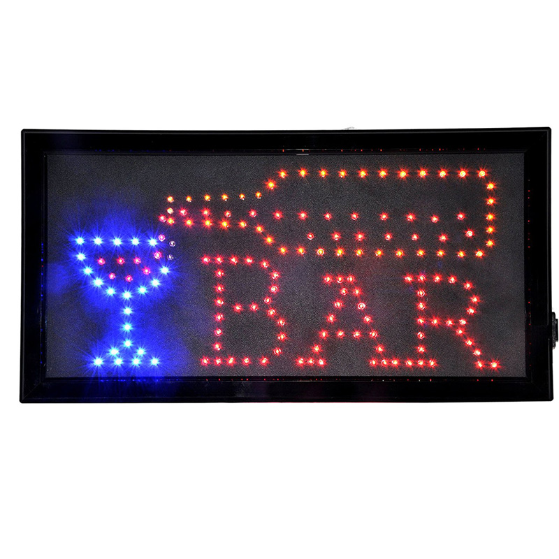 Open Bar Led Neon Business Motion Light Sign,Animated LED Light Shop Business Neon Bar Signs,Led Neon Sign Cup and Bottle metal bar led marquee sign light up vintage signs light bar indoor deration page 2