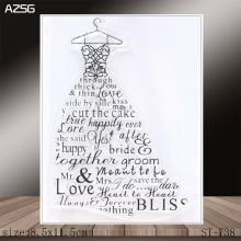 AZSG Wedding Dress Clear Stamps/Stamp/For Scrapooking/Card Making/Silicone Stamps/Decoration  Crafts
