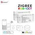 GLEDOPTO ZIGBEE zll link light RGBWW/CW led strip controller smart app werk Compatibilit met Amazon Echo Plus en ZIGBEE 3.0