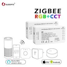 GLEDOPTO ZIGBEE  zll link light RGBWW/CW led strip controller smart app work Compatibilit with Amazon Echo Plus and ZIGBEE 3.0