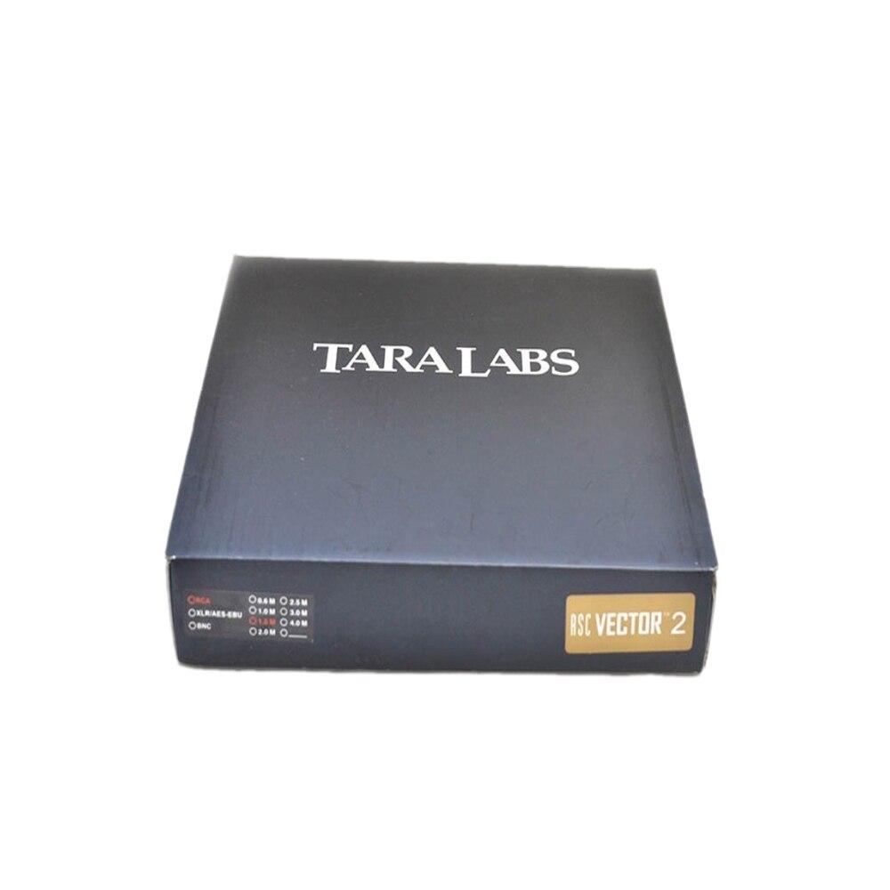 Paire Taralabs RSC vectoriel-2 RCA Audio 8N argent câble d'interconnexion or prise rca boîte d'origine Hifi Vinshle