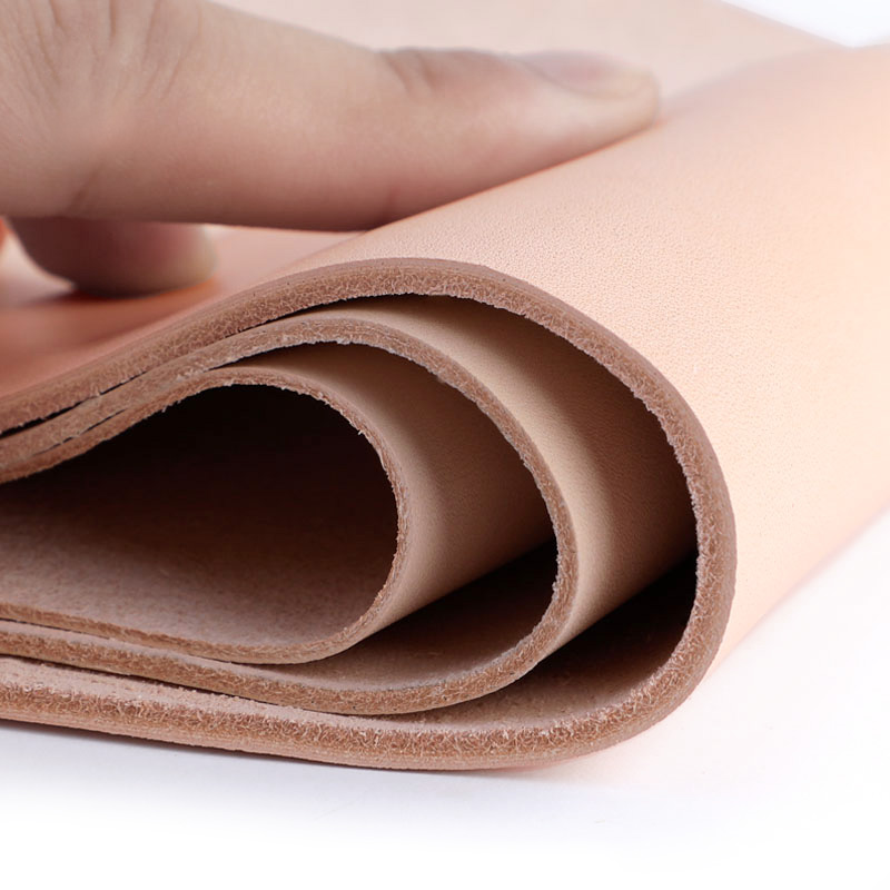 Vegetable Tanned Cowhide Material Fabric Piece, Real Leather For Furniture DIY Art Craft Sewing Accessory Genuine-Leather-Fabric