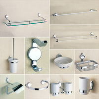 Bathroom Accessories Hardware Liquid Soap Dispenser Wall Mounted Towel Bars Robe Hook Toilet Brush Paper Dish