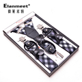 Men's trousers   strong   THREE clip 3 clip button adults MEN  suspenders