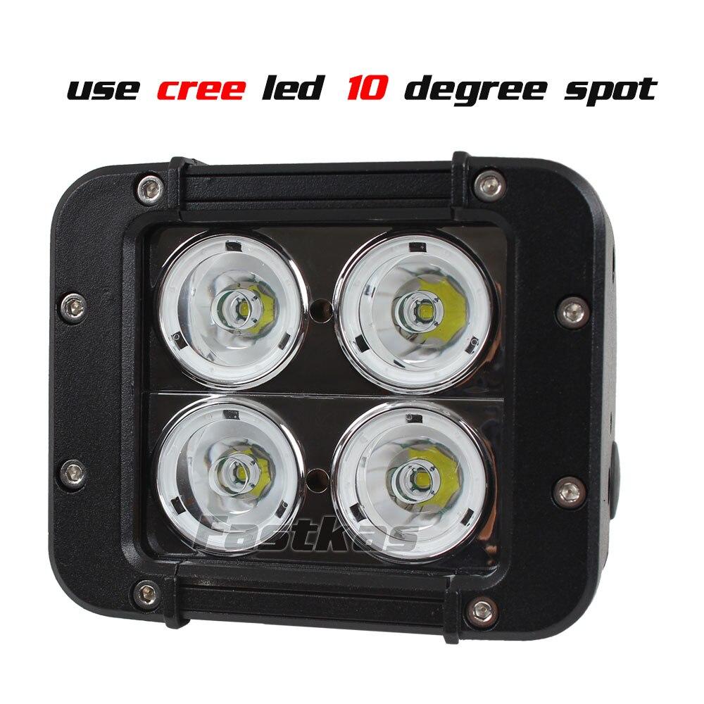FASTKAS 2X40 W LED Barra de luz de trabajo para camiones de ATV de la motocicleta CREE Chip LED Offroad barra de luz 4 luz LED de luz antiniebla X 4 - 3