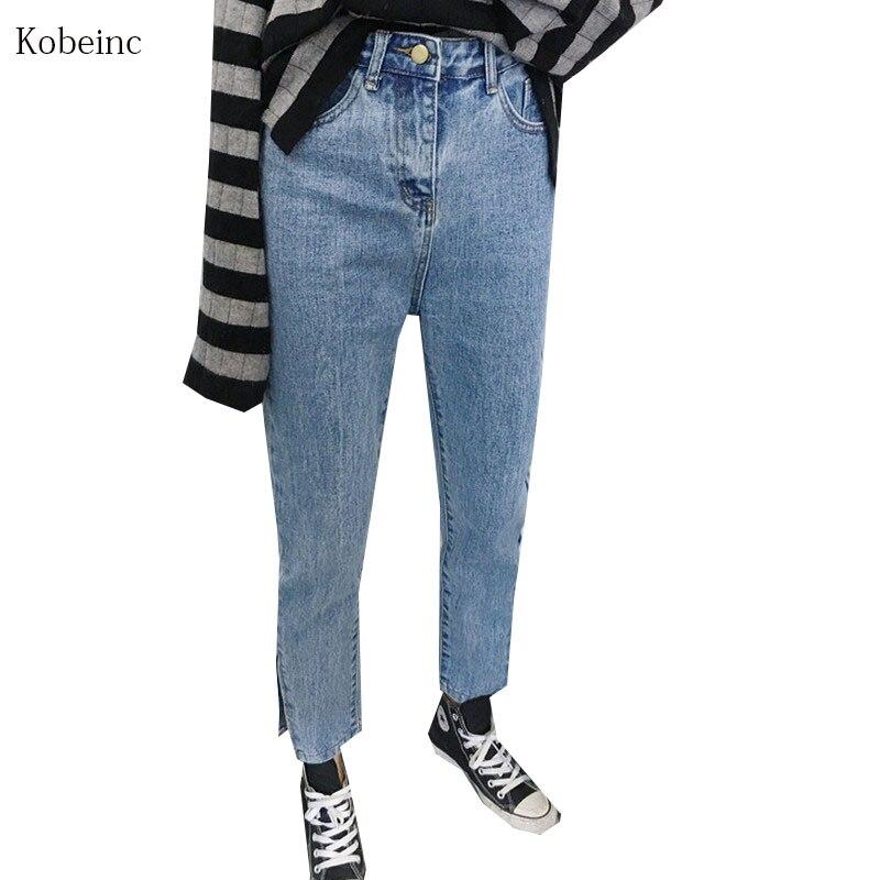 boyfriend jeans for women 2017 spring vintage high waist. Black Bedroom Furniture Sets. Home Design Ideas