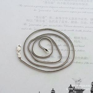 Image 2 - 925 סטרלינג כסף שרשרת, עבה 1.6mm נחש שרשרת עצם נקבה כסף הוא 70 cm ארוך