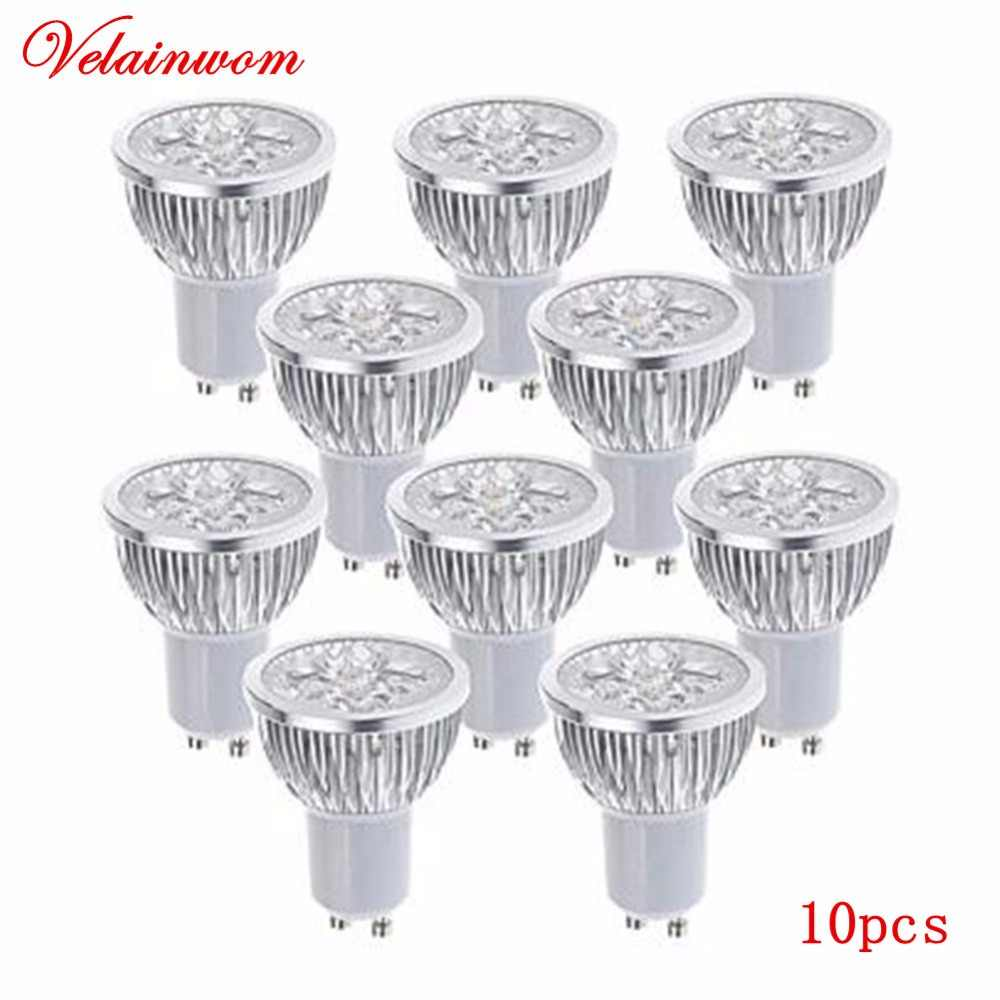 LED Spotlight Bulb Dimmable 3W 4W 5W AC85-265V GU10/GU5.3 High Power Warm/Cold White LED Lamp Downlight Free Shipping 10pcs/lot