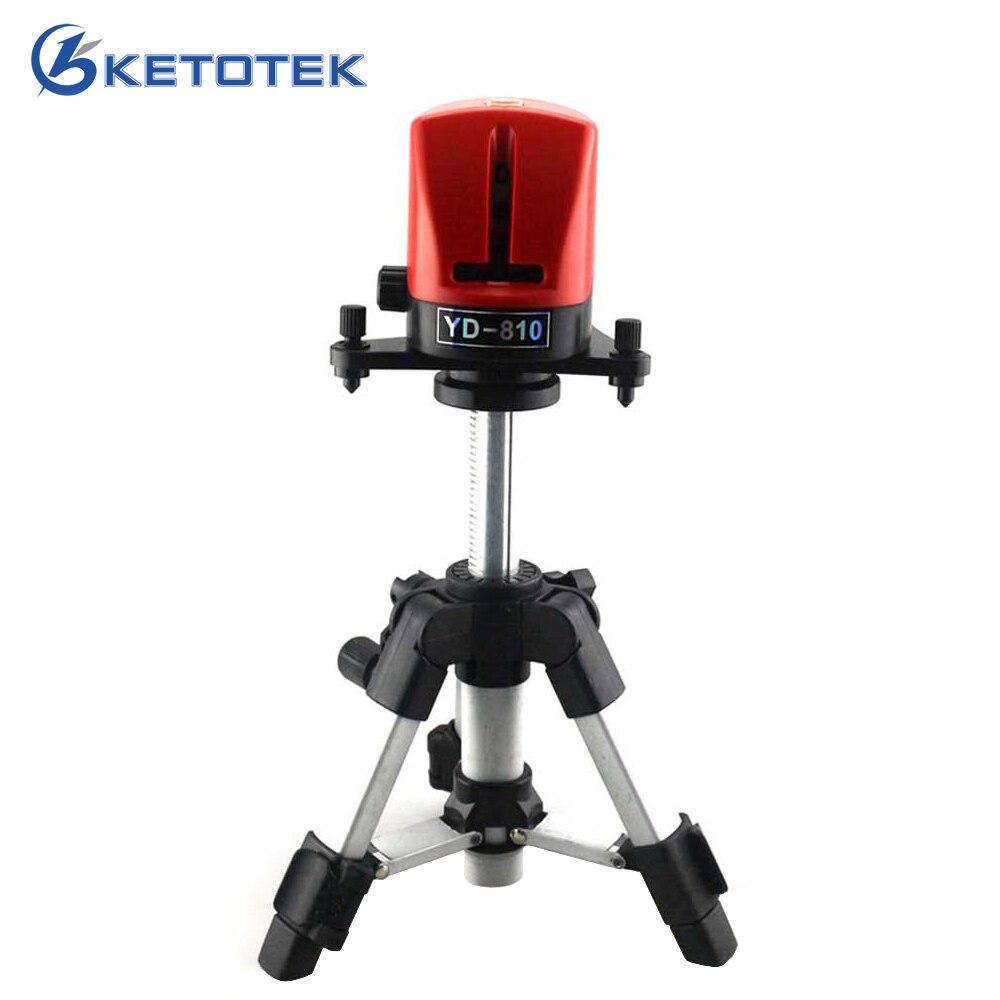 A8810 YD-810 niveau Laser 360 auto-nivellement 2 lignes croix rouge ligne Laser niveau avec AT280 trépied outils de mesure
