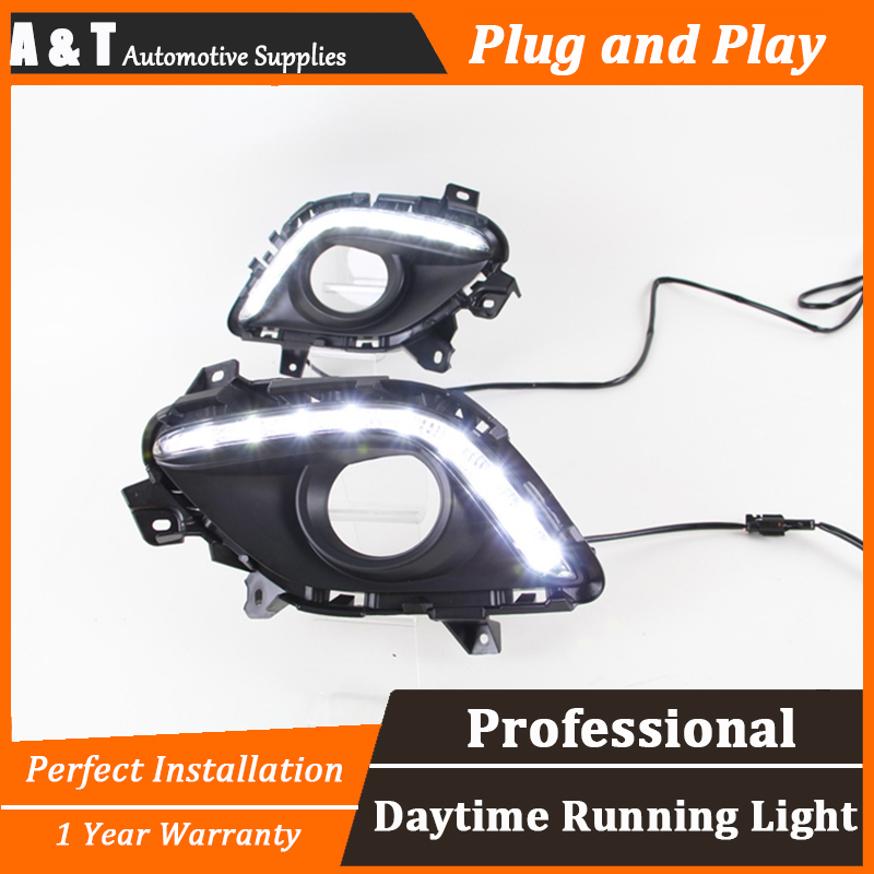 A T car styling For Megane LED DRL For Megane led fog lamps daytime running light