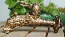 Dragon forme Animale jardin Bibcock Rural style antique bronze Dragon robinet avec robinet extérieur Décoratif pour le Jardin