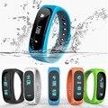 Smartband E02 rastreador de fitness Saúde Esporte à prova d' água Do Bluetooth Pulseira Inteligente Pulseira para IOS Android flexível Banda Inteligente PK TW64