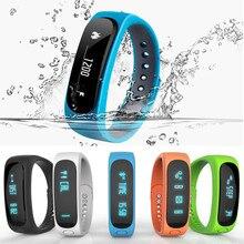 Impermeable Smartband E02 rastreador de fitness Deporte Salud Pulsera Inteligente Bluetooth Pulsera para IOS Android flex Banda Inteligente PK TW64