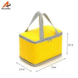 Neue Tragbare Thermische Mittagessen Taschen für Frauen Männer Multifunktions Candy Farbe Lagerung Tote Taschen Lebensmittel Picknick isolierung Tasche Kühler 15