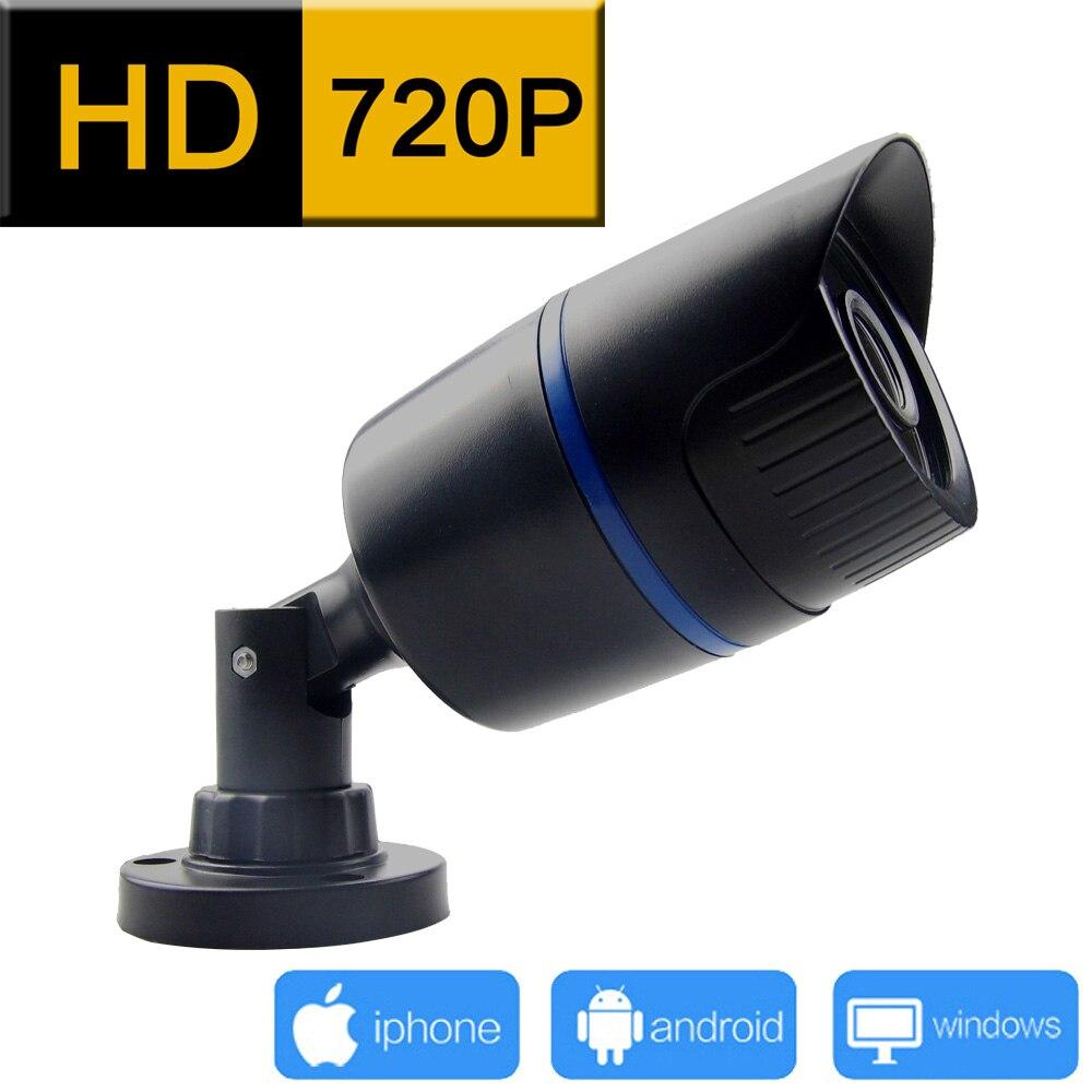 bilder für 1280*720 ip-kamera im freien 720 P cctv-sicherheitssystem wasserdichte videoüberwachung infrarot cam home camara p2p hd webcam jienu